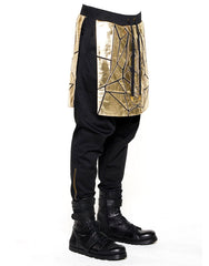 Skingraft Skirted Wolf Panel Pants Gold Side
