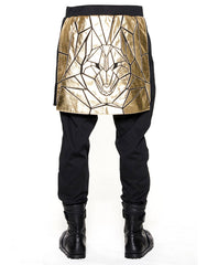 Skingraft Skirted Wolf Panel Pants Gold Back