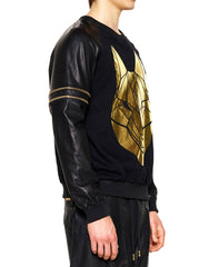 Skingraft Wolf Printed Pullover Gold Side