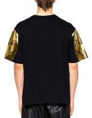 Skingraft Wolf Sleeve Tee Gold back