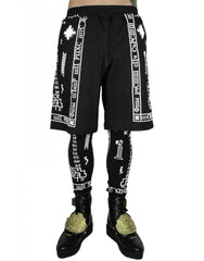 KTZ Church Print Shorts with Leggigns