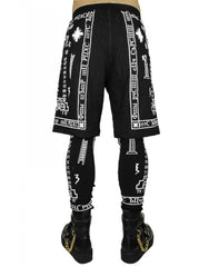 KTZ Church Print Shorts with Leggigns Back