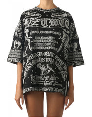 KTZ Poet Printed Womens Oversized T-Shirt Front