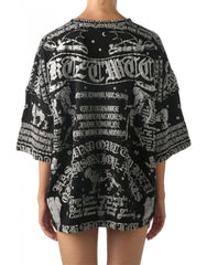 KTZ Poet Printed Womens Oversized T-Shirt Back