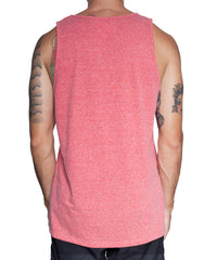 Usual Suspect Maroon Washed Pocket Tank Back