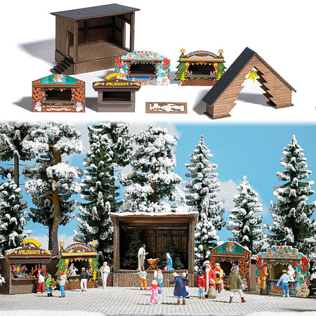 Busch 1183 - Christmas Market Set