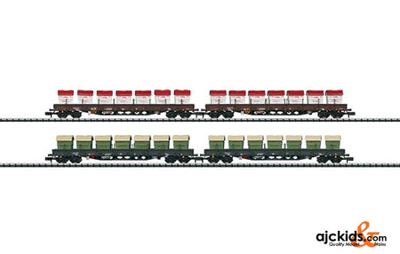 Trix 15071 Low Side Car Set Awilog - Exclusiv 2011