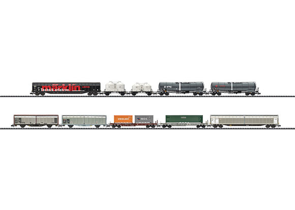 Trix 15074 Modern Railroading Display Set with 10 Freight Cars