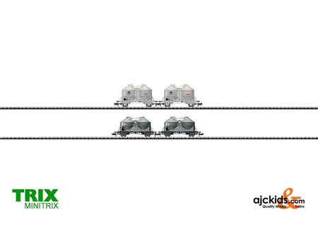 Trix 15087 Set with 4 Cement Silo Cars