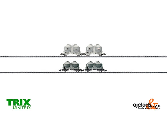 Trix 15087 - Set with 4 Cement Silo Cars