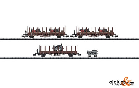 Trix 15283 Lanz Transport Stake Car Set