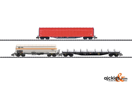 Trix 15286 Set with 3 Freight Car Types