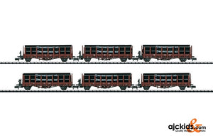 Trix 15410 - Set with 6 Stake Cars - Exclusiv 2011