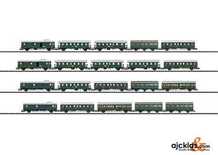 "Trix 23445 ""Passenger Commuter Service"" Display with 20 Cars"
