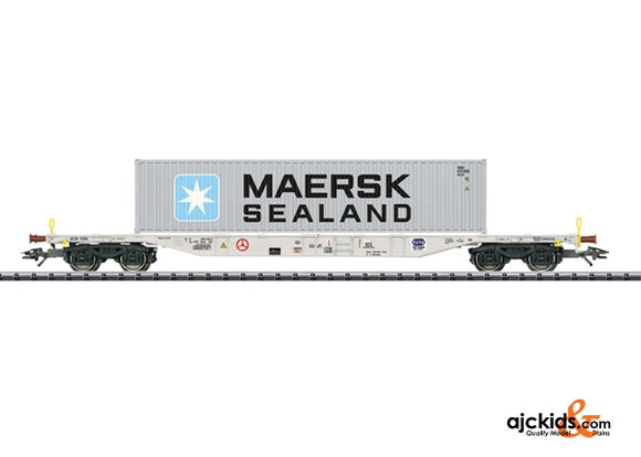 Trix 24130 PKP Type Sgnss Container Transport Car; 1x40ft; Era VI
