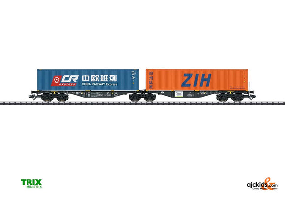 Trix 24802 - Type Sggrss Double Container Transport Car