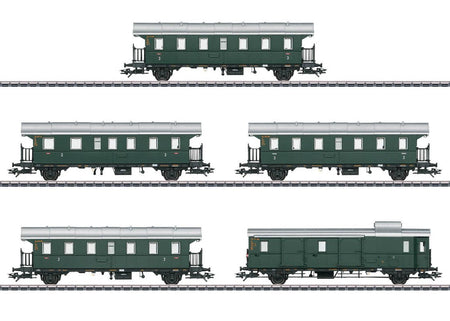 "Marklin 43141 - ""Donnerbuechsen"" / ""Thunder Boxes"" Passenger Car Set"