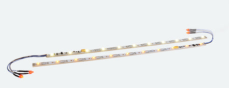 ESU 50702 - Interior lighting set including taillight, 255mm, separable, PowerPack option, 11 LED, yellow, gauge: N, TT, H0