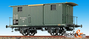 Brawa 2075 Covered Goods Wagon W/2-end Platforms