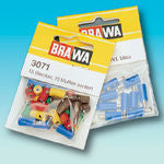 Brawa 3051 Plug round yellow [10 pieces]