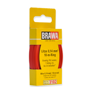 Brawa 3102 - Wire 0.14 MM² 10 m spool red