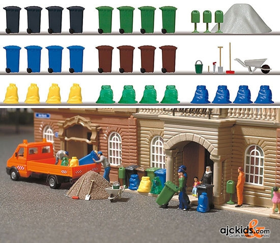 Busch 1136 - Garbage & Trash Set