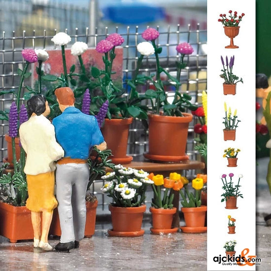 Busch 1209 - Flowerpots with Flowers 20/