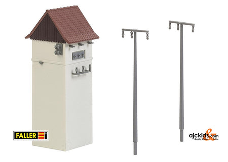Faller 120241 - Electrical substation with power poles