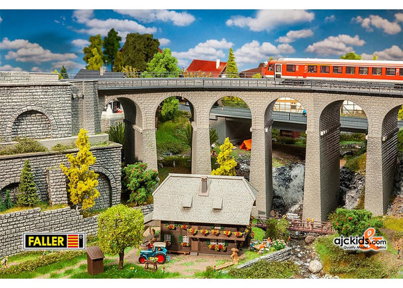 Faller 120466 - Viaduct set, two-track, curved