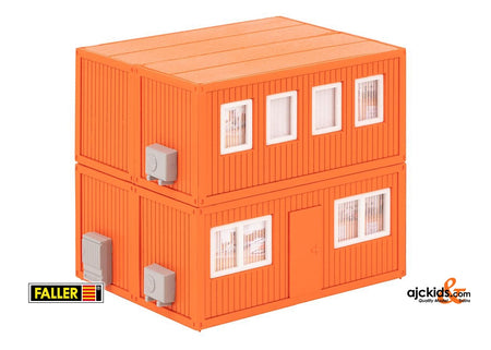 Faller 130135 - 4 Building site containers, orange