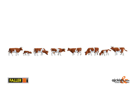 Faller 155507 - Cows, brown spotted