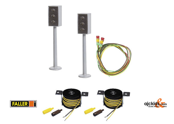 Faller 161656 - 2 LED Traffic lights with Stop sections