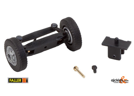 Faller 163002 - Front axle, completely assembled for lorries / buses (with wheels)
