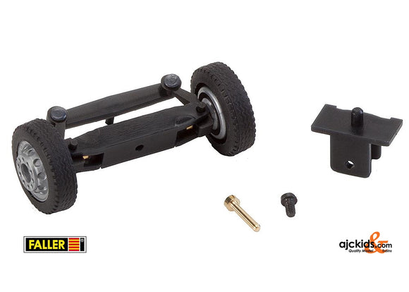 Faller 163003 - Front axle, completely assembled for lorries / buses (with NQ wheels)