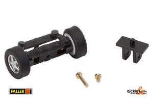 Faller 163004 - Front axle, completely assembled for passenger cars (with wheels)