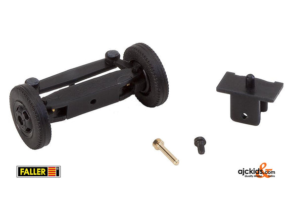 Faller 163011 - Front axle, completely assembled for classic lorries (with wheels)