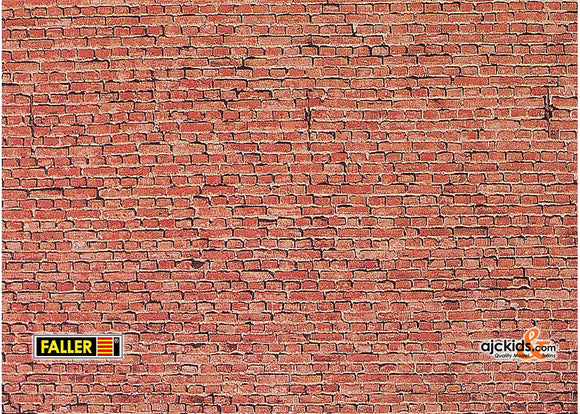 Faller 170607 - Wall card, Clinker brick