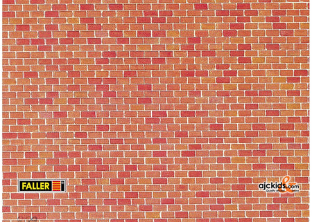 Faller 170608 - Wall card, Red brick