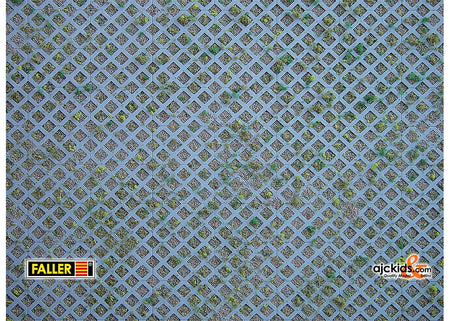 Faller 170625 - Wall card, Diamond perforated bricks with grass