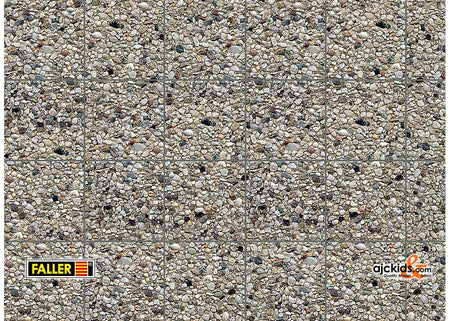 Faller 170626 - Wall card, Exposed aggregate concrete