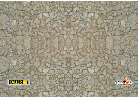 Faller 170627 - Wall card, Natural stone