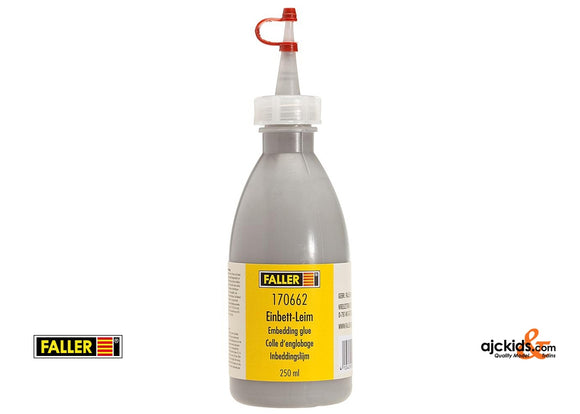 Faller 170662 - Glue, gravel grey, 250 ml