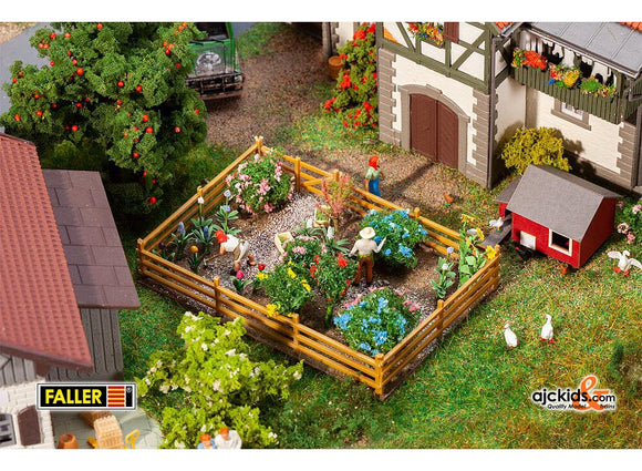 Faller 181276 - Pleasure garden with flowers and bushes