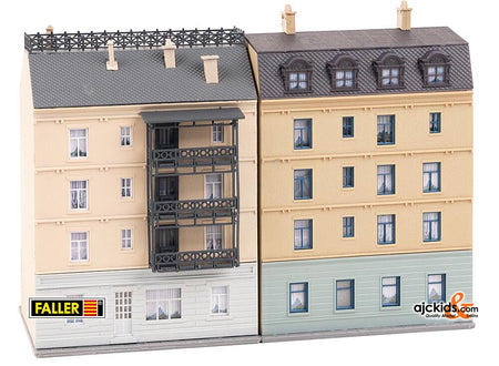 Faller 232379 - Apartment buildings with electrical shop