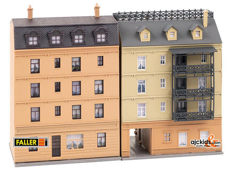 Faller 232384 - Apartment buildings with pharmacy and delicatessen shop