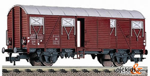 Fleischmann 5319 Box goods wagon with electronic tail light, type Gmhs 53 of the DB