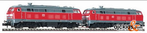 Fleischmann 77236 Diesel locos in double heading of the DB AG, class 218, in traffic red livery