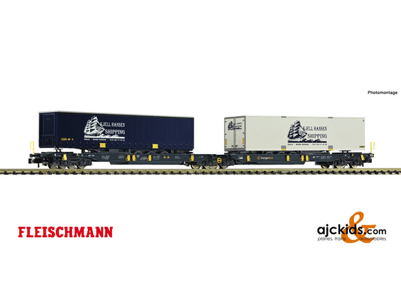 Fleischmann 825012 - Articulated double pocket wagon + Kjell Hansen