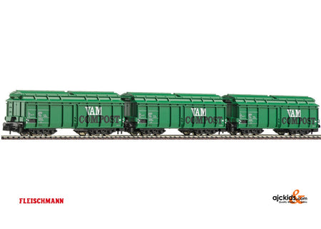 Fleischmann 845202 Garbage wagon green NS