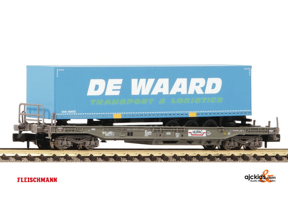 Fleischmann 845369 Standard pocket wagon and semi-trailer DE WAARD; HUPAC/NS